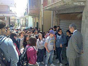 """Il Liceo Scientifico """"Benedetto Croce"""" di Palermo al Parco Quasimodo"""