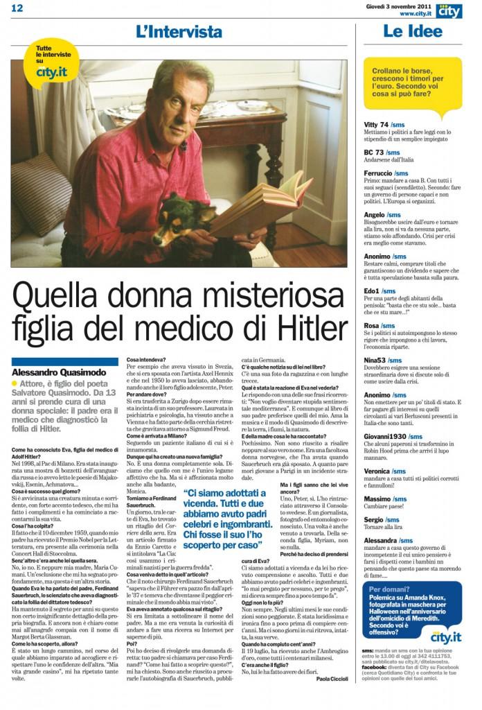 Quella donna misteriosa figlia del medico di Hitler