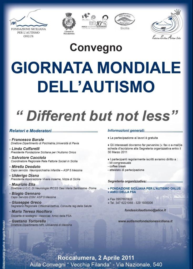 Convegno Giornata Mondiale sull'Autismo