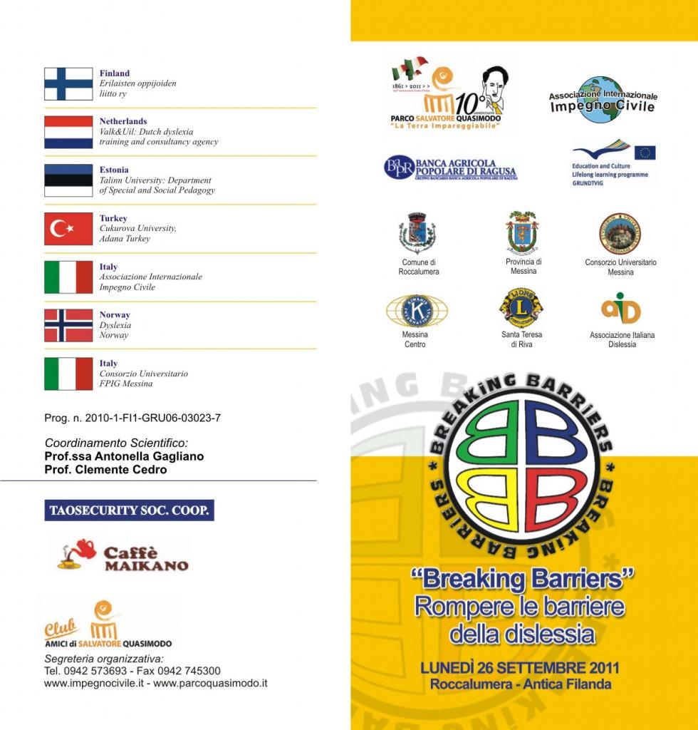 """Convegno Europeo """" Breaking Barriers- Rompere le barriere della dislessia """" Roccalumera"""