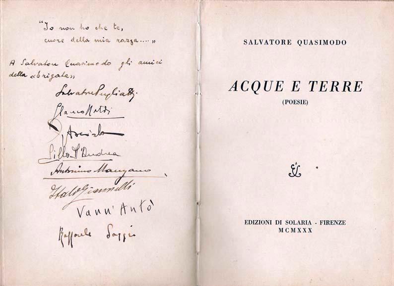 Salvatore Quasimodo: il poeta e scrittore