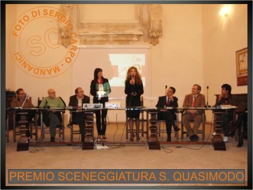 """Dal sito mandanici.net – Mandanici, Premio internazionale di sceneggiatura """"Salvatore Quasimodo"""" 6 dicembre 2007"""