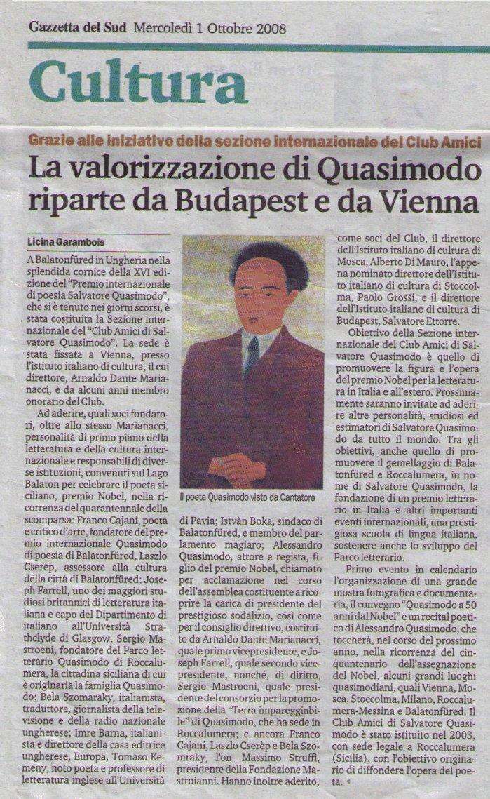 gazzetta 1 ottobre 2008