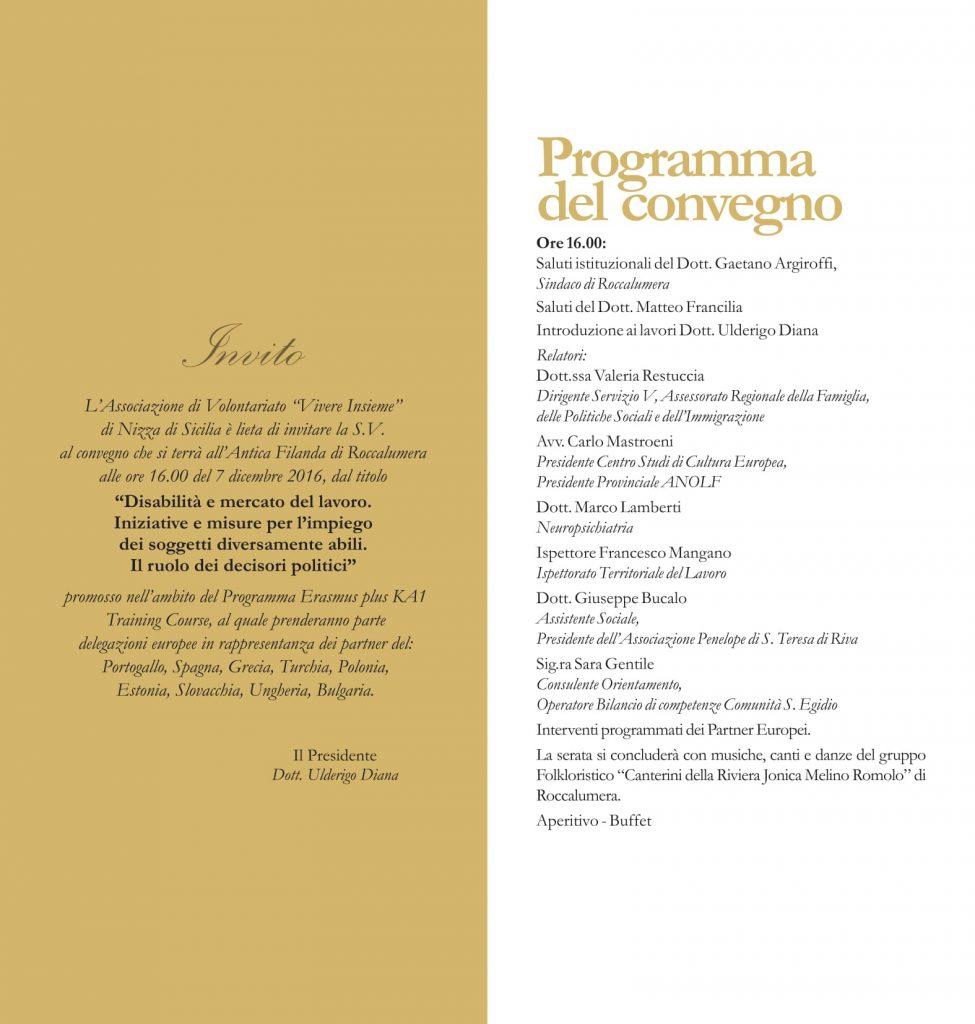 """Roccalumera : Convegno """" Disabilità e mercato del lavoro … """""""
