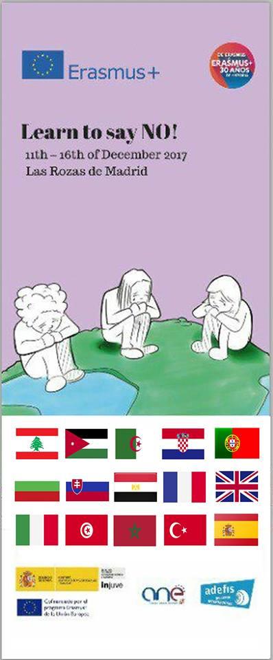 """Progetto """" Learn to say NO """" – ( Erasmus+ K1 ) . Il Centro studi di cultura europea partecipa quale partner"""