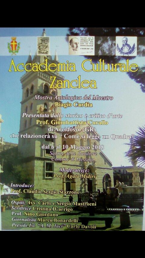 6-7 Maggio 2018 : l'Accademia Culturale Zanclea di Messina per le celebrazioni del 50° Anniversario della scomparsa di Salvatore Quasimodo