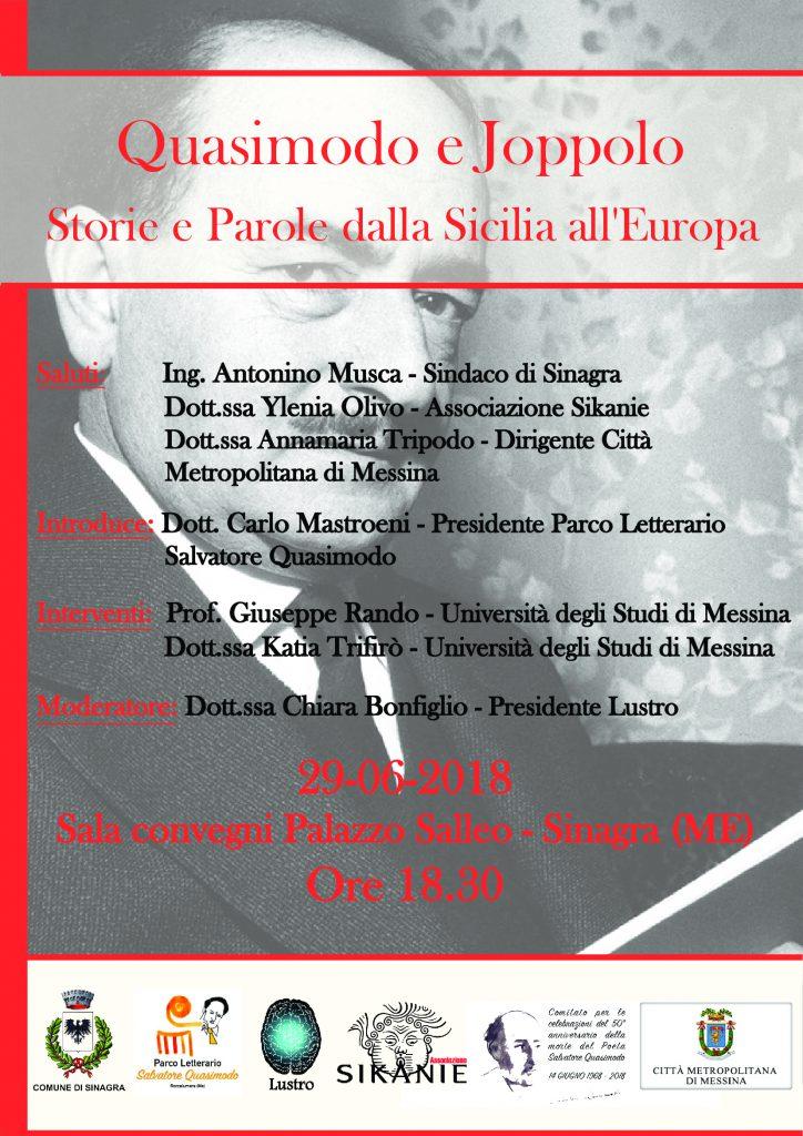 SINAGRA (ME) : Quasimodo e Joppolo – giornata di studio