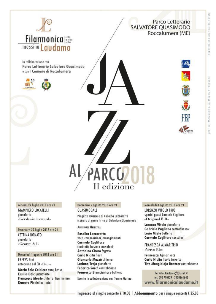 Definito il programma dei concerti estivi di JAZZ AL PARCO 2018
