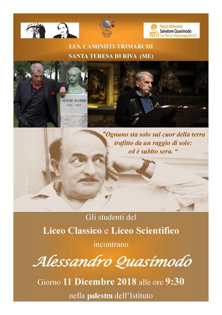 Il Liceo Caminiti – Trimarchi di S. Teresa di Riva celebra Quasimodo