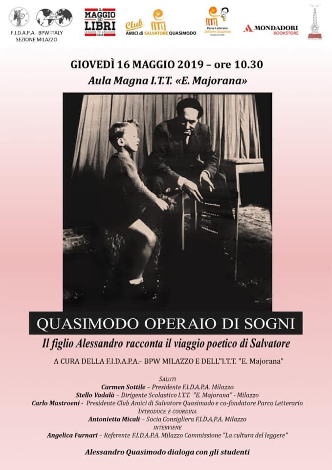 Incontro a Milazzo con Alessandro Quasimodo