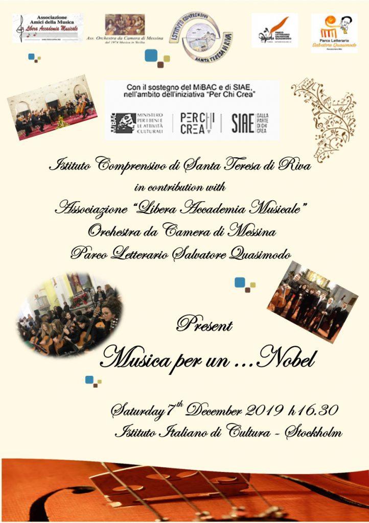 Musica per Un Nobel .. l'esordio in palcoscenico del tour europeo