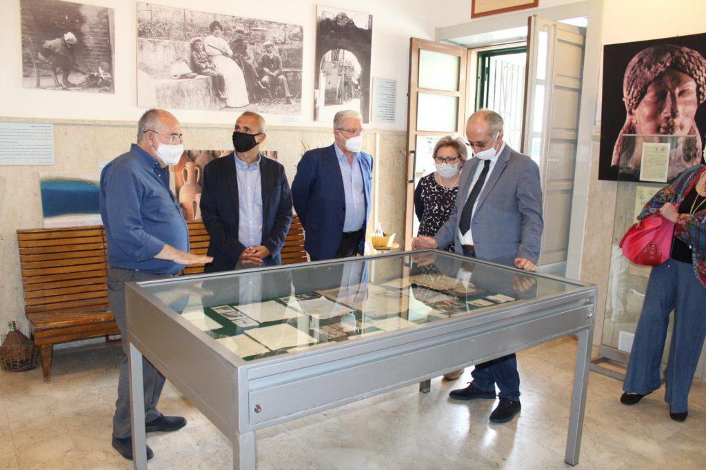 Visita dell'Assessore Regionale ai Beni Culturali Samonà al Parco Quasimodo