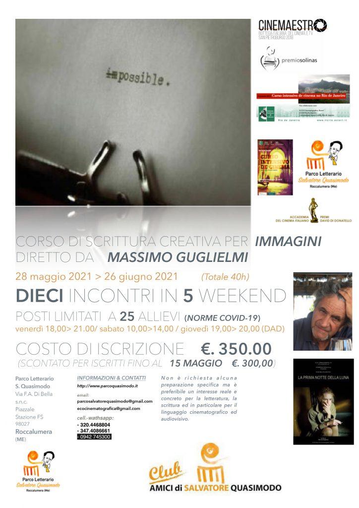 """Vuoi partecipare ad un Corso di scrittura creativa ? Al Parco Letterario Salvatore Quasimodo puoi, """"Impossible > Possible""""  …. iscriviti"""