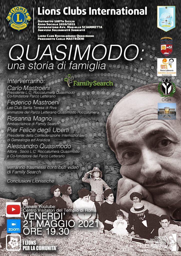 """Quasimodo: una storia di famiglia"""" (21 maggio 2021)"""