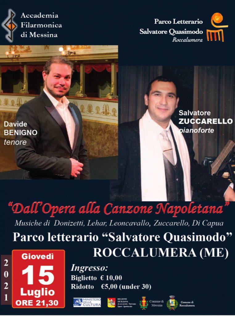 """""""Dall'Opera Lirica alla Canzone Napoletana"""". Giovedì 15 Luglio alle ore 21.30"""